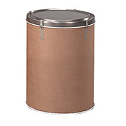 Round Fiber Drum with Steel Lever-Lock Top - 12 Gallon Capacity - 150 Lb. Capacity