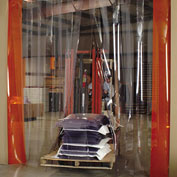 Aleco Complete Pvc Strip Door Systems - Fits 5'Wx8'H Doors - Smooth Clear-Flex Ii