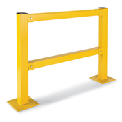 """Relius Solutions Impact-Resistant Protective Post - 45""""H Two-Rail Post - End Post"""