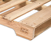 "Relius Solutions Hardwood Pallets - Heat Treated And Stamped Pallet - 64""Wx48""Lx4-7/8""H - Pkg Qty 10"