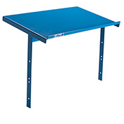 "Writing Shelf For Relius Elite Steel Utility Carts - 15-3/8""Wx24""Dx16""H - Blue"