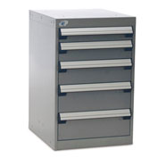 "Rousseau Five-Drawer Pedestal For Modular Mobile Cabinets - 3"",4"",5"",6"" Front Drawer Heights"