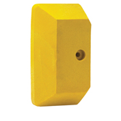 End Caps For Relius Solutions Steel Guard Rail System - Yellow