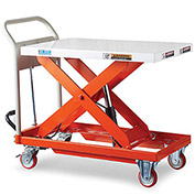 "Relius Elite Mobile Lift Table - 881 Lb. Capacity - 31.5""W x 19.7""D Platform"