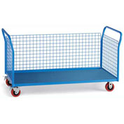 "Relius Elite Premium All-Welded Platform Trucks 3 Wire Side Panels 60'Wx30""D Deck 5"" Casters"