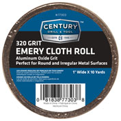 "Century Drill 77303 - Emery Cloth Shop Rolls - Grit 320 - 1"" x 10 Yards"