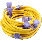 Pro Cap® D12421050 Multi Outlet Extention Cord With 50 ft Cord, 12/3 Awg Sz, Yellow