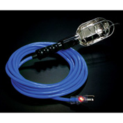 Pro Glo® Trouble Light With 50 ft Cord, Grounded Handle Outlet, 16/3, Blue