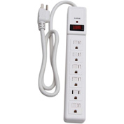 Century® D155300WT-3 6 Outlet Surge Strip With 3-ft Cord, White