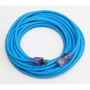 Sub Zero® D16821100 Extension Cord With 100 ft Cord, 12/3 Awg Sz, Blue W/Lighted Ends