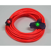Pro Glo® D17222050 Triple Tap Extension Cord With 50 ft Cord, 12/3 Awg Sz, Orange