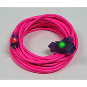 Pro Glo® D17225100 Triple Tap Extension Cord With 100 ft Cord, 12/3 Awg Sz, Pink