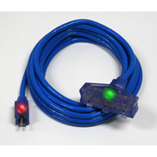 Pro Glo® D17226025 Triple Tap Extension Cord With 25 ft Cord, 12/3 Awg Sz, Blue