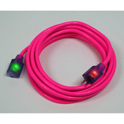 Pro Glo® D17335015 Extension Cord With 15 ft Cord, 14/3 Awg Sz, Pink