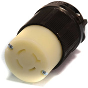Century® Twistlock Connector NEMA L15-20R, 20A, 250V