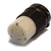 Century® Twistlock Connector NEMA L5-30R, 30A, 125V
