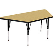 "Activity Tables, 48""L x 24""W, Standard Height, Trapezoid - Fusion Maple"