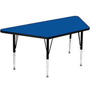 "Activity Tables, 48""L x 24""W, Standard Height, Trapezoid - Blue"