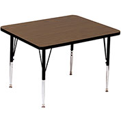 "Activity Tables, 36""L x 36""W, Standard Height, Square - Walnut"