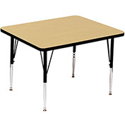 "Activity Tables, 36""L x 36""W, Standard Height, Square - Fusion Maple"