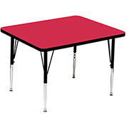 "Activity Tables, 36""L x 36""W, Standard Height, Square - Red"