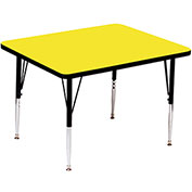 "Activity Tables, 36""L x 36""W, Standard Height, Square - Yellow"