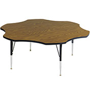 "Activity Tables, 60""L x 60""W, Standard Height, Flower - Medium Oak"