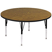 "Activity Tables, 60""L x 60""W, Standard Height, Round - Medium Oak"
