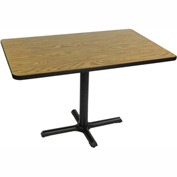 "Correll Restaurant Table - Rectangular - 30"" x 42"" x 29"" - Laminate - Medium Oak"