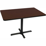 "Correll Restaurant Table - Rectangular - 30"" x 42"" x 29"" - Laminate - Cherry Top"