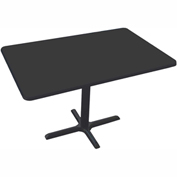"Correll Restaurant Table - Rectangular - 30"" x 48"" x 29"" - Laminate - Black Granite"
