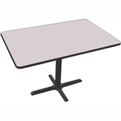 "Correll Restaurant Table - Rectangular - 30"" x 48"" x 29"" - Laminate - Gray Granite"