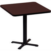 """Correll Square Bar Table 24"""" x 24"""" x 29"""" with Cherry Top & Black Cross Base"""