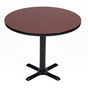 """Correll Round Bar Table 42"""" x 42"""" x 29"""" with Cherry Top & Black Cross Base"""