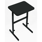 "Correll Adjustable Standing 24""L x 20""W x 34"" to 42"" Height Workstation Black Granite"