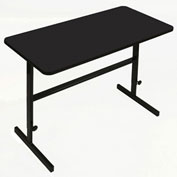 "Correll Adjustable Standing 60""L x 24""W x 34"" to 42"" Height Workstation Black Granite"