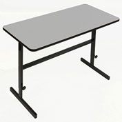 "Correll Adjustable Standing 60""L x 24""W x 34"" to 42"" Height Workstation Gray Granite"