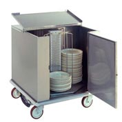 Heated Dish Storage Cart, Rotary Design, Enclosed Type
