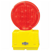 Cortina Solar Barricade Light, Yellow Body, Red Lens, 03-10-RSBL
