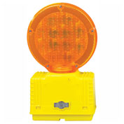 Cortina Solar Barricade Light, Yellow Body, Amber Lens, 03-10-SBLG