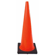 "36"" Solid Orange Cone W/Black Base - Pkg Qty 4"