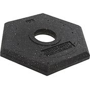 Rubber Delineator Base, 15 lb. Replacement Base