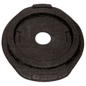 Cortina Traffic Barrel Drum Base, 25 Lb., Recycled Rubber Base, Round, 03-732-25