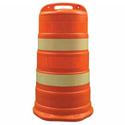 "Cortina Traffic Barrel Drum With (4) 4"" Engineer Grade Reflective Stripes, HDPE, 03-780-4EG"