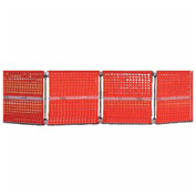 "Cortina Modular Barricade System, 40"" x 40"", Orange, 03-905"