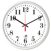 "Chicago Lighthouse 12.75"" Round Slimline Wall Clock, White"