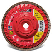 "CGW Abrasives 30142 Trimmable Flap Discs with Built in Hub 4-1/2"" x 5/8-11"" 40 Grit Zirconia - Pkg Qty 10"