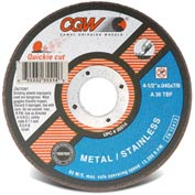 "CGW Abrasives 35514 Cut-Off Wheel 4-1/2"" x 7/8"" 36 Grit Type 1 Zirconia Aluminium Oxide - Pkg Qty 25"