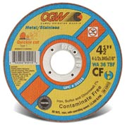 Cgw 4-1/2x.045x7/8 T1 Wa36t Quickie Cut Cf Cutoff Wheel - Pkg Qty 25