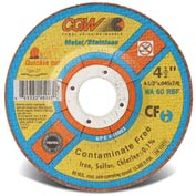 Cgw 4-1/2x.045x7/8 T27 Wa60r Quickie Cut Cf Cutoff Wheel - Pkg Qty 25